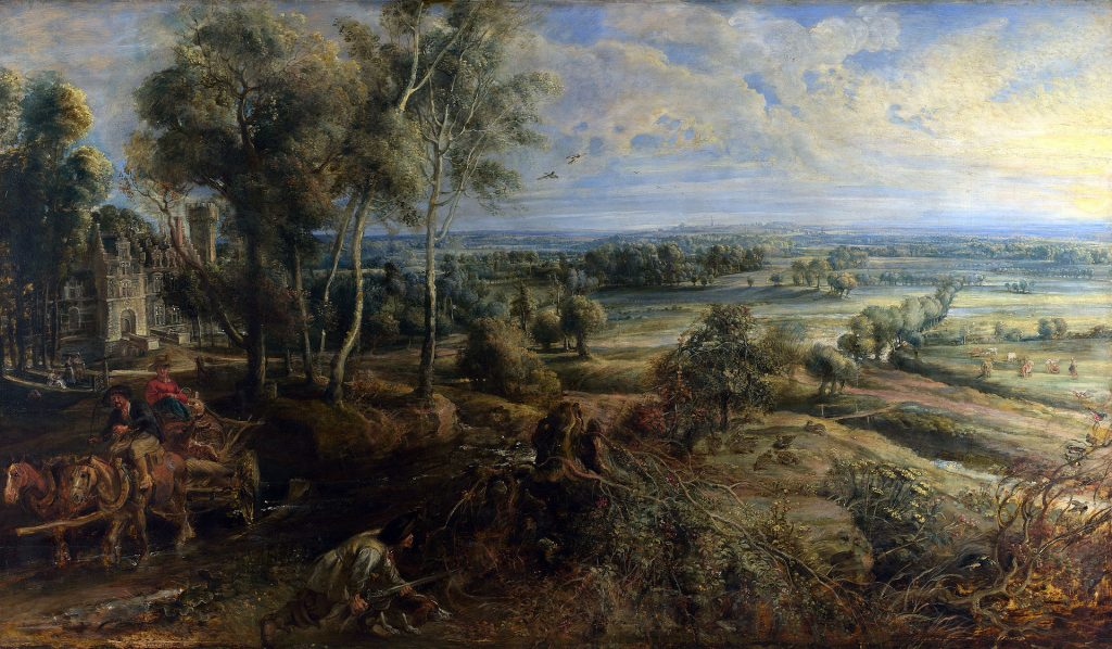 A View of Het Steen in the Early Morning Rubens