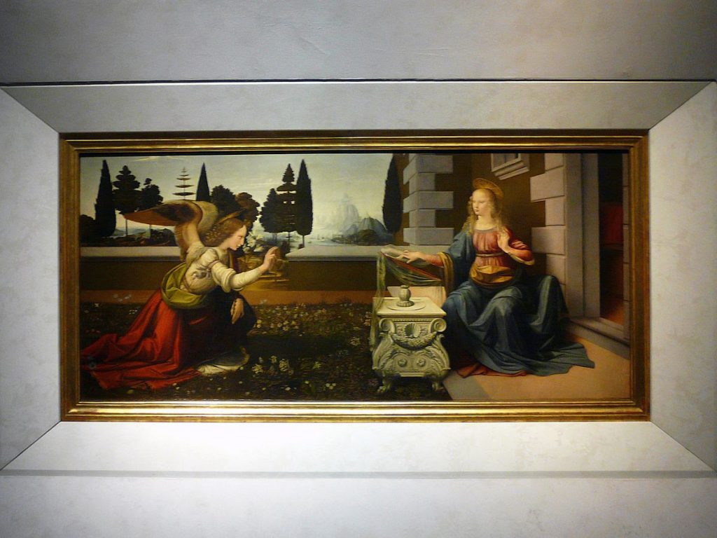 Annunciation By Leonardo Da Vinci size