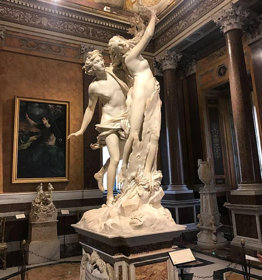 Apollo and Daphne at Galleria Borghese