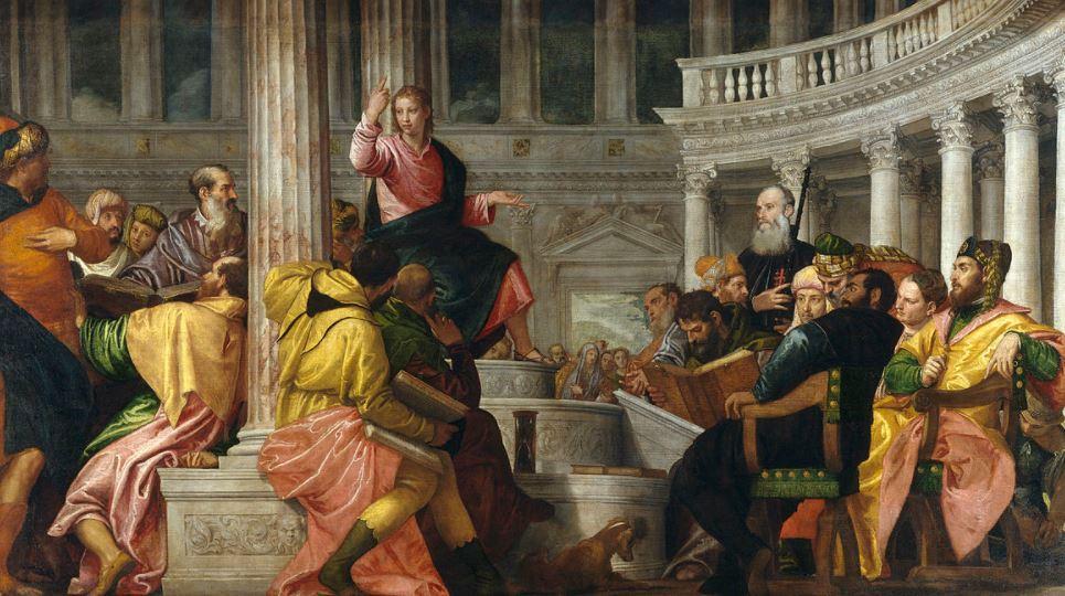 Christ among the doctors veronese