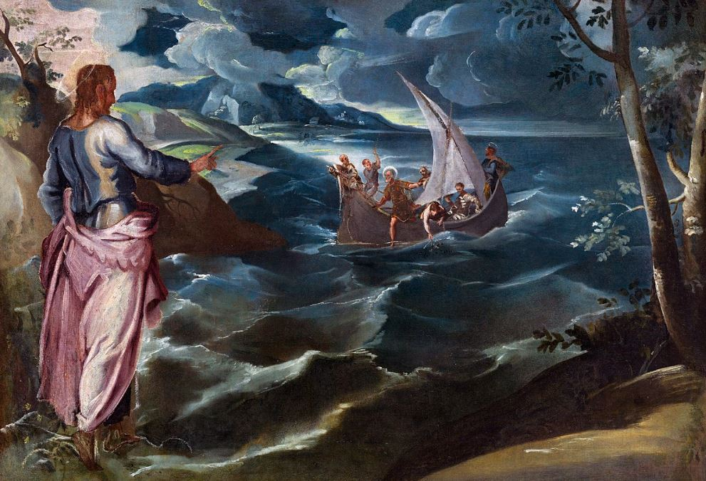 Christ at the Sea of Galilee tintoretto famous paintings