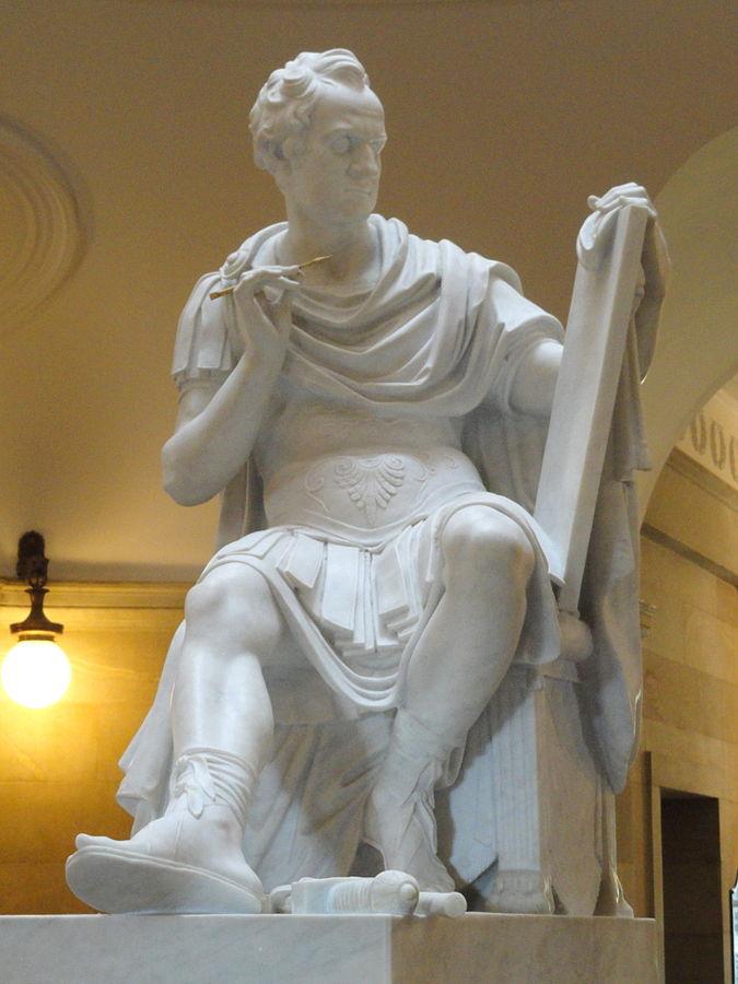 Copy of George Washington sculpture Antonio Canova
