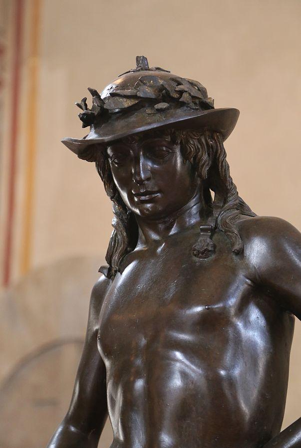 Detail of David by Donatello