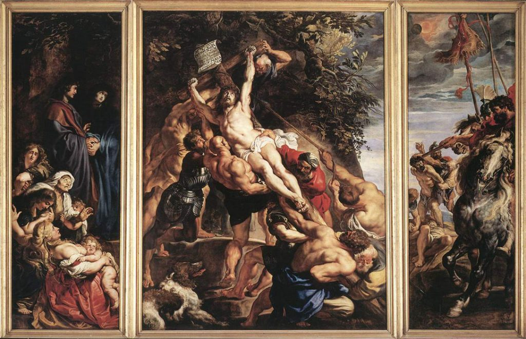 Famous Peter Paul Rubens Paintings The Elevation of the Cross
