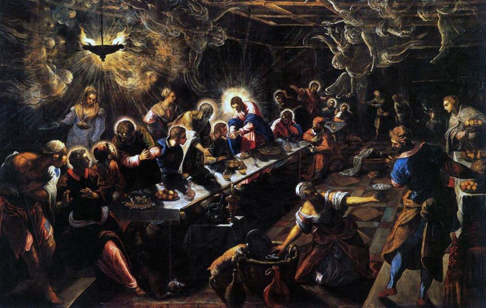 Famous paintings by Tintoretto the Last Supper