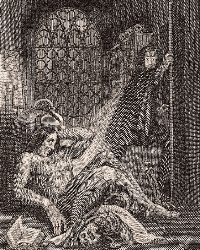 Frankenstein cover of 1831 edition