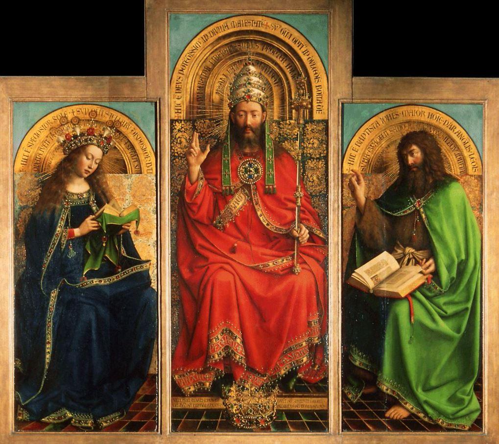 Ghent altarpiece 3 upper figures