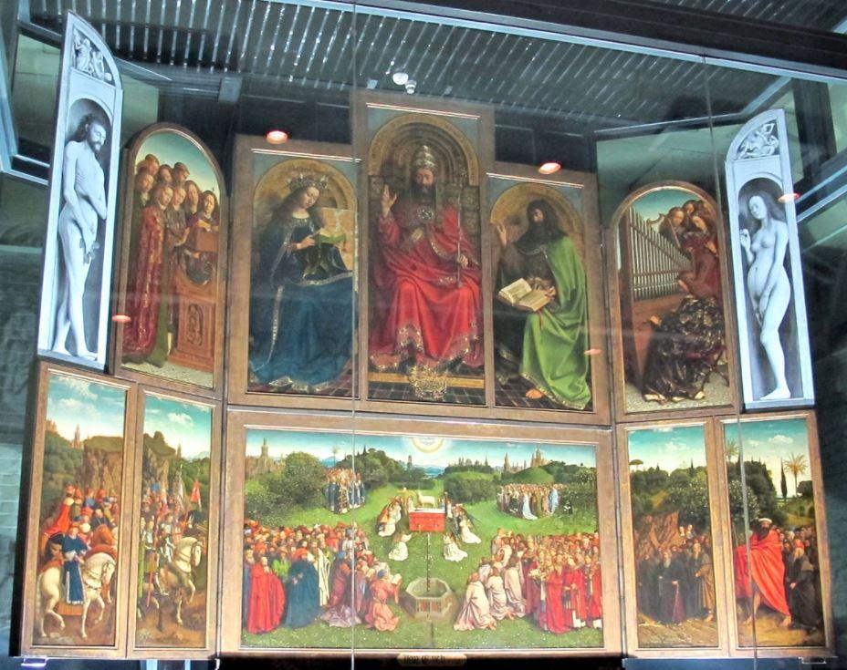 Ghent altarpiece inside Saint Bavo Cathedral