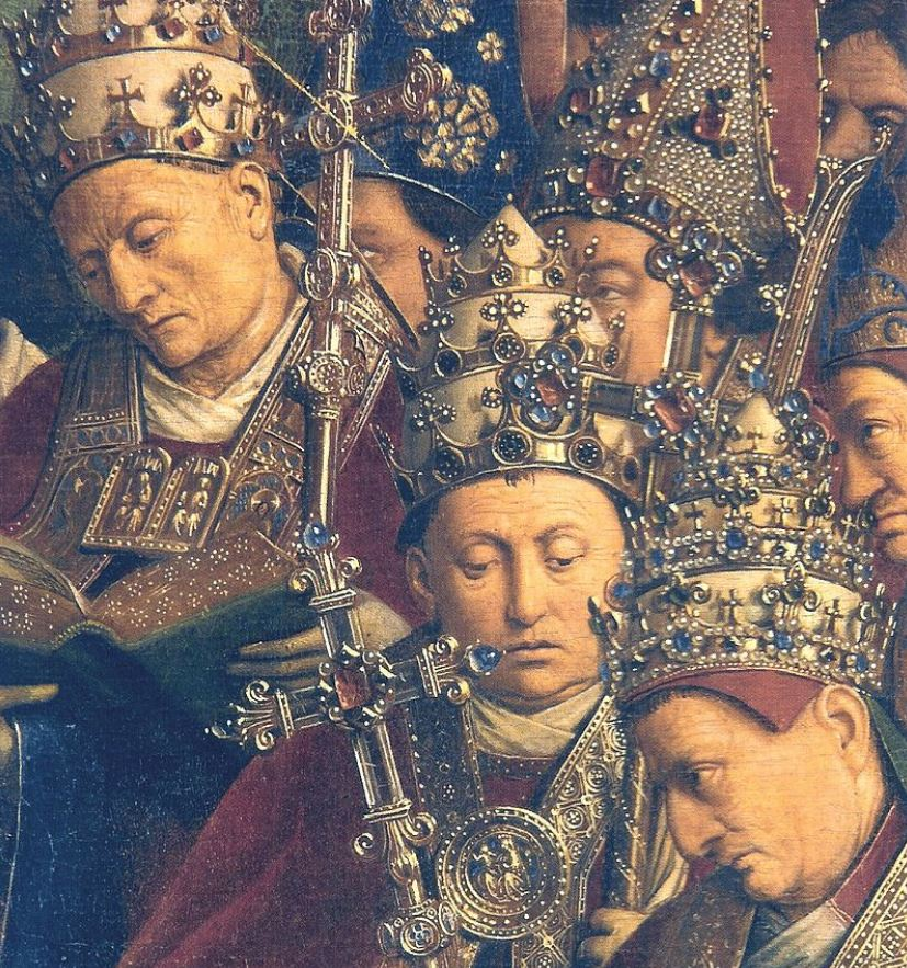 Ghent altarpiece jewelry details