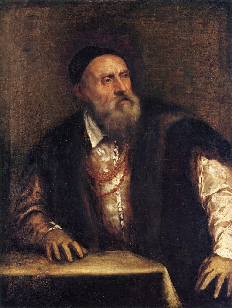Titian at an old age