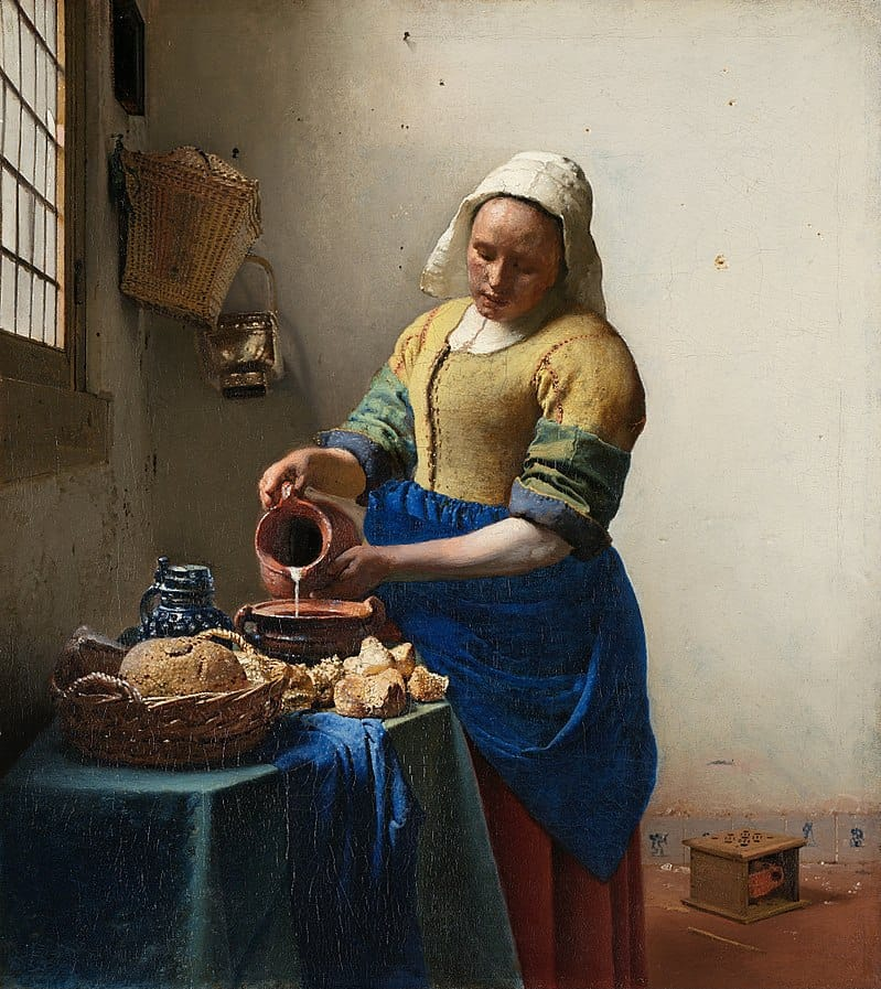 Interesting facts about the milkmaid by Johannes Vermeer