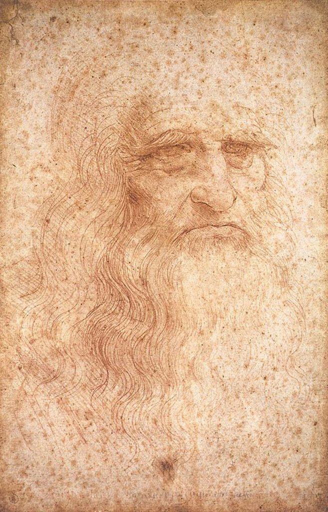 portrait of a man in red leonardo da vinci