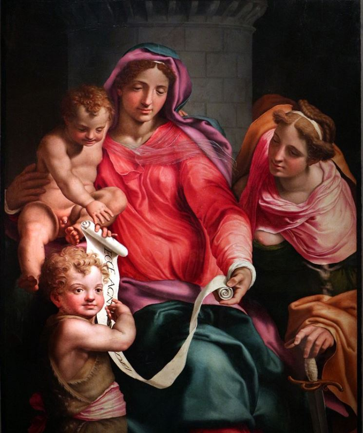 Madonna and Child with the Infant St John the Baptist and Saint Barbara