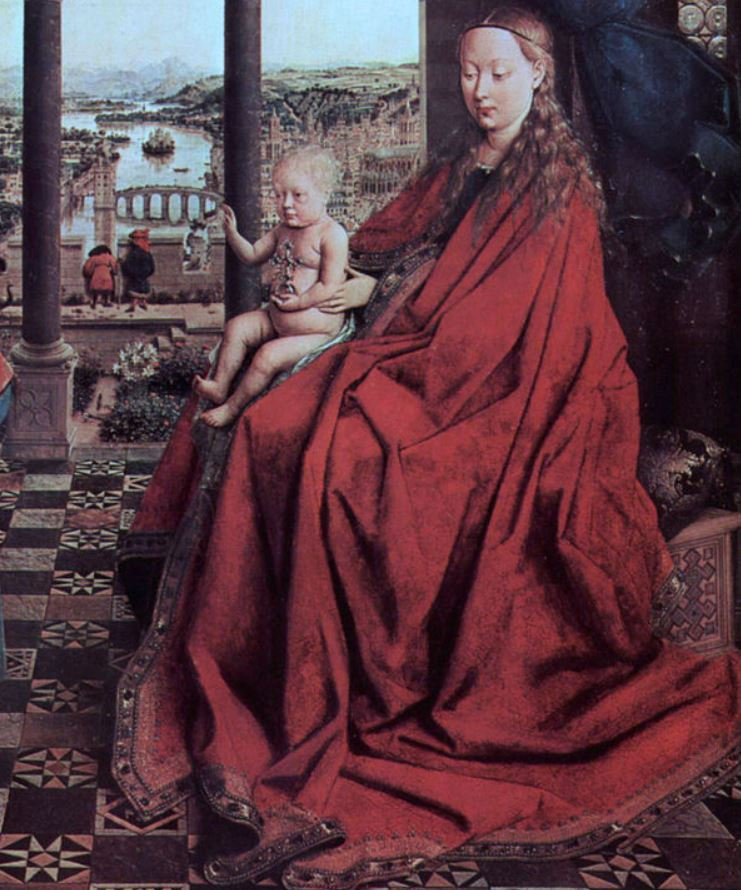 Madonna and child throne of wisdom