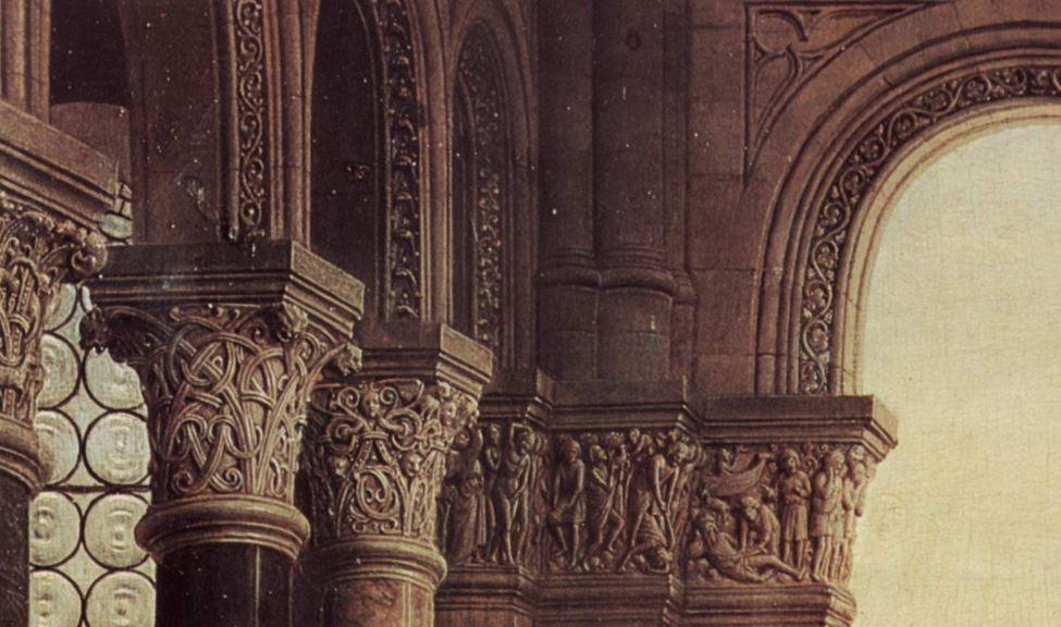 Madonna of Chancellor Rolin detail of columns