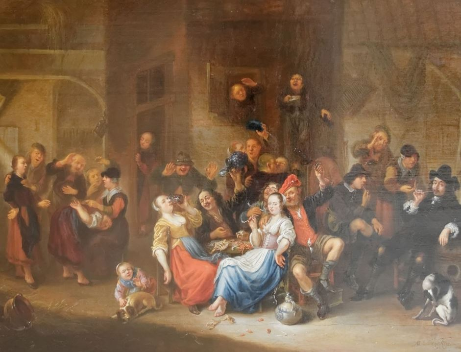 Merry company genre painting