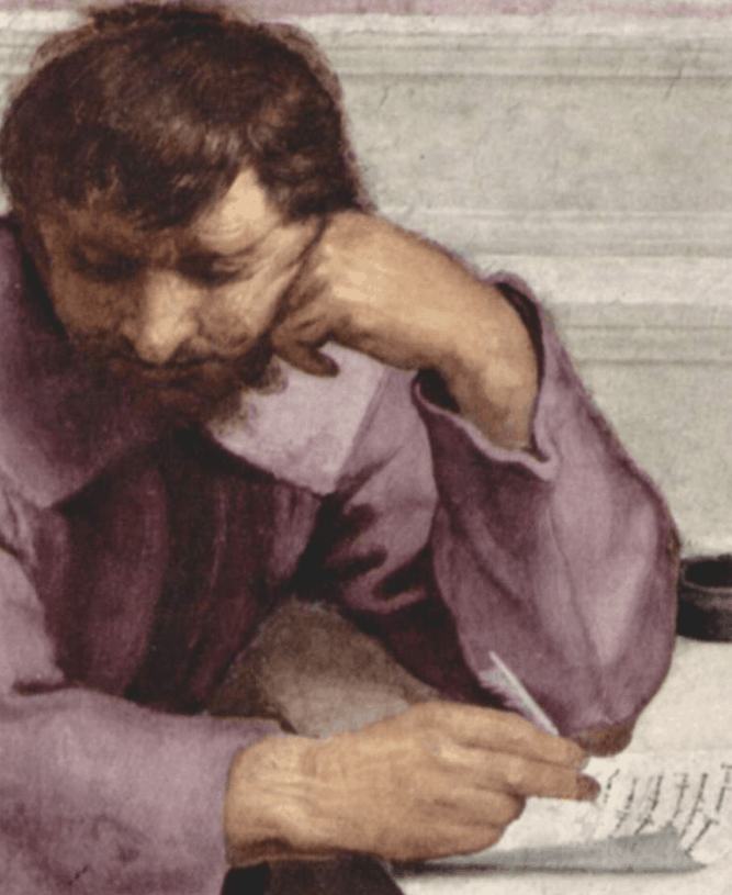 Michelangelo as Epicurus or Heraclitus