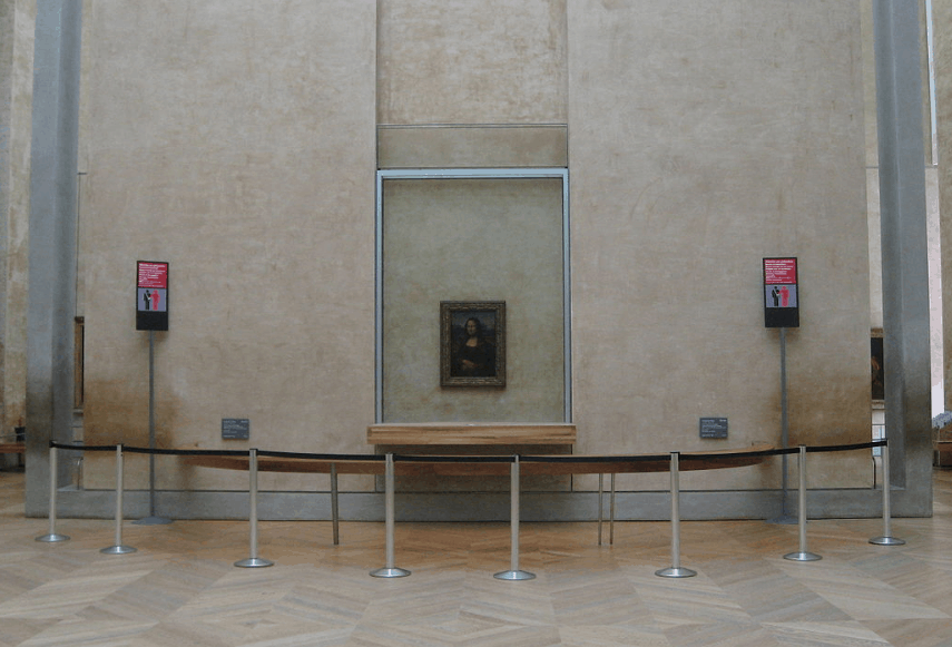 Mona Lisa painting in the louvre