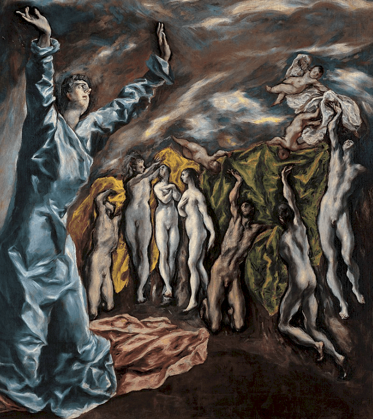 Famous paintings by El Greco - Opening of the Fifth Seal