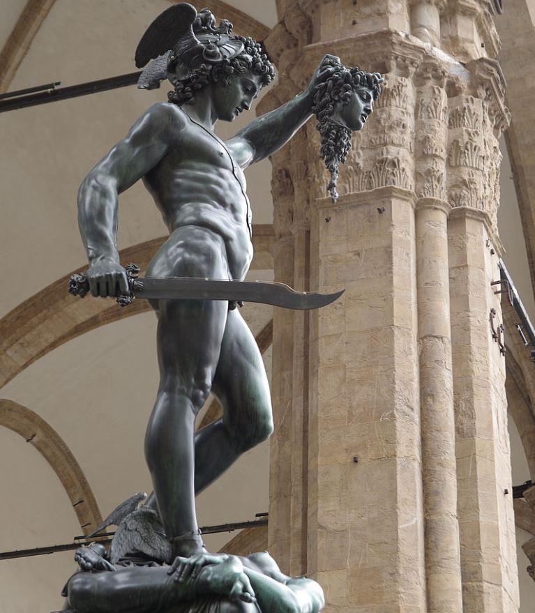 famous benvenuto cellini artworks Perseus with the Head of Medusa