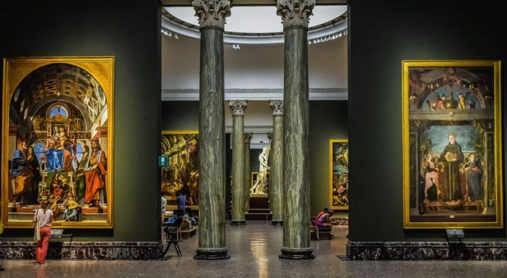 Pinacoteca di brera inside
