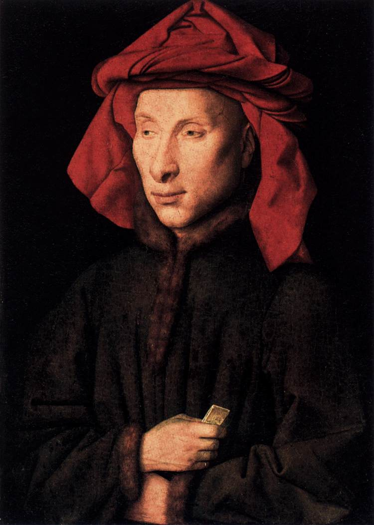 Arnolfini man portrait