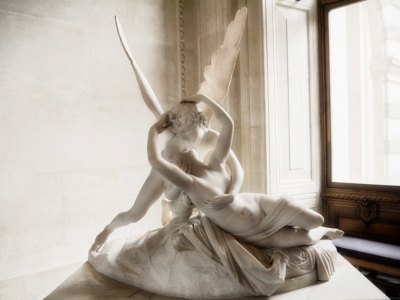 Famous Antonio Canova sculptures Psyche Revived by Cupid's Kiss