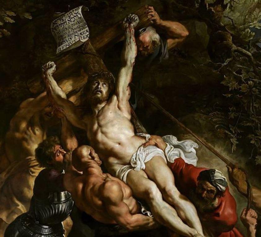 Raising of the cross jesus detail
