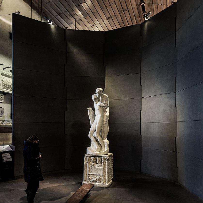 Rondanini Pieta inside Castello Sforzesco Milan