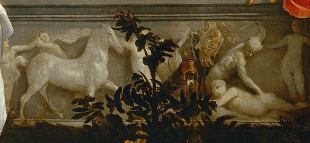 Sacred and profane love sarcophagus