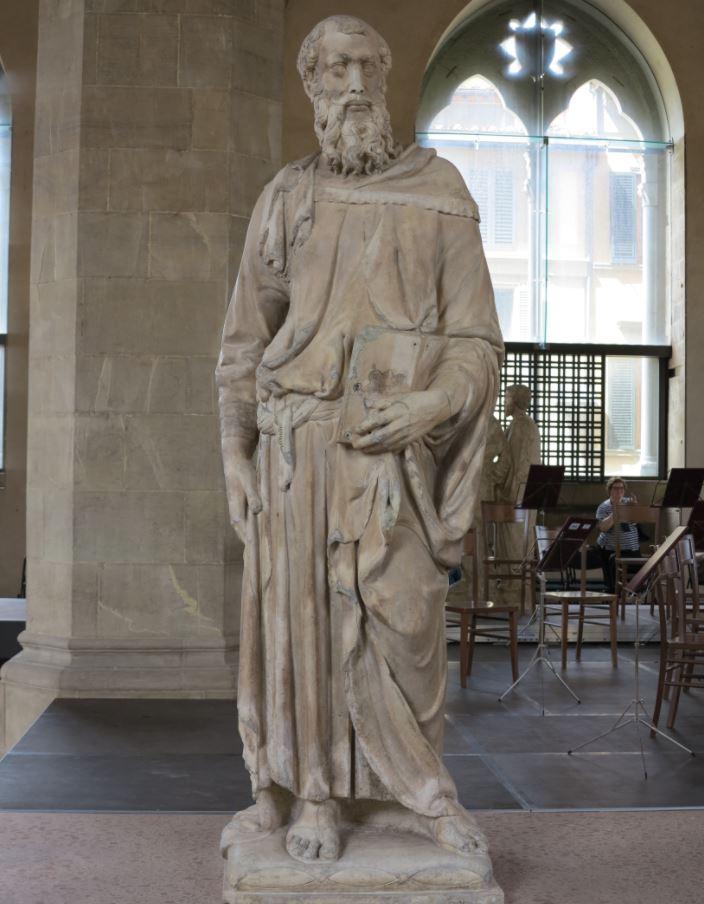 Saint Mark by Donatello in museum