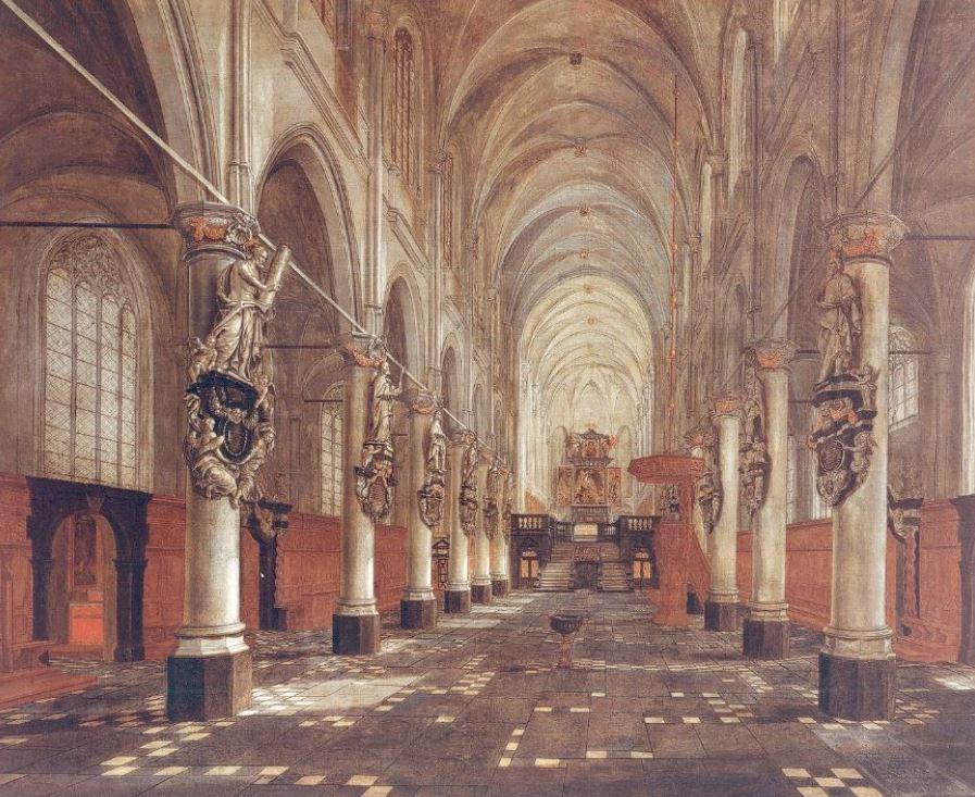 Saint Walpurga church of Antwerp interior