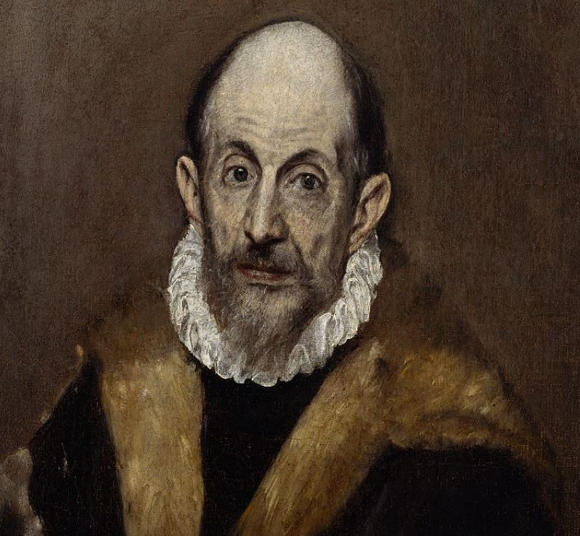 Self portrait of el greco