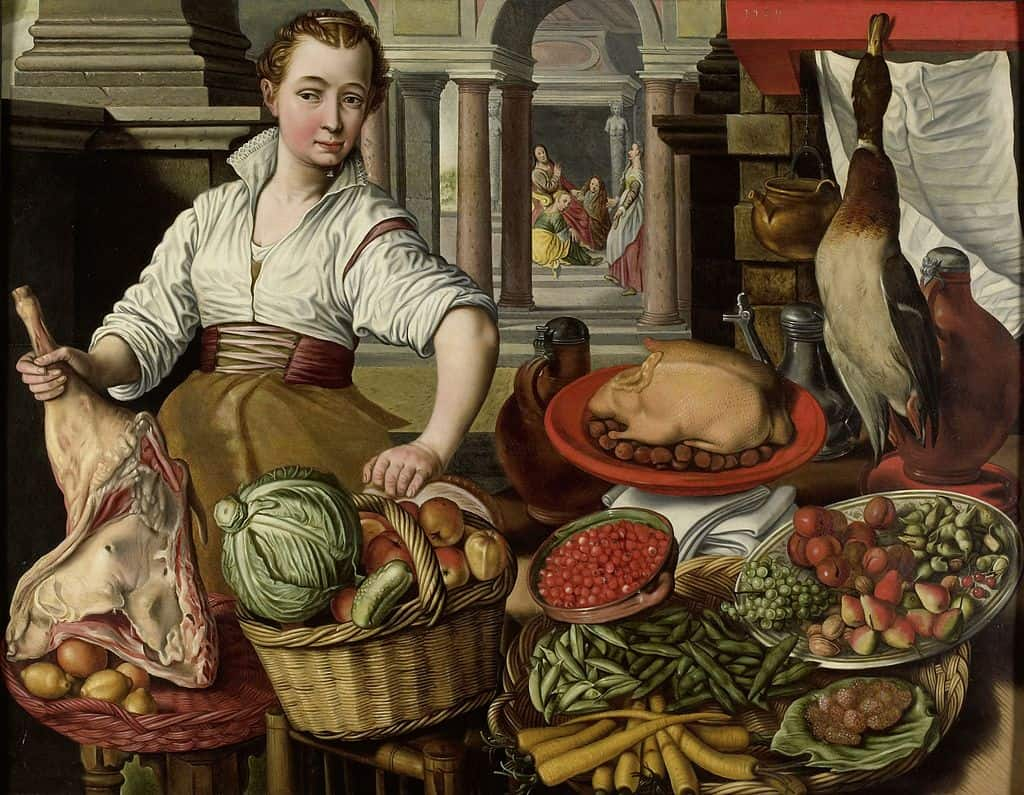 Suggestive depictin of a maid by Joachim Beuckelaer