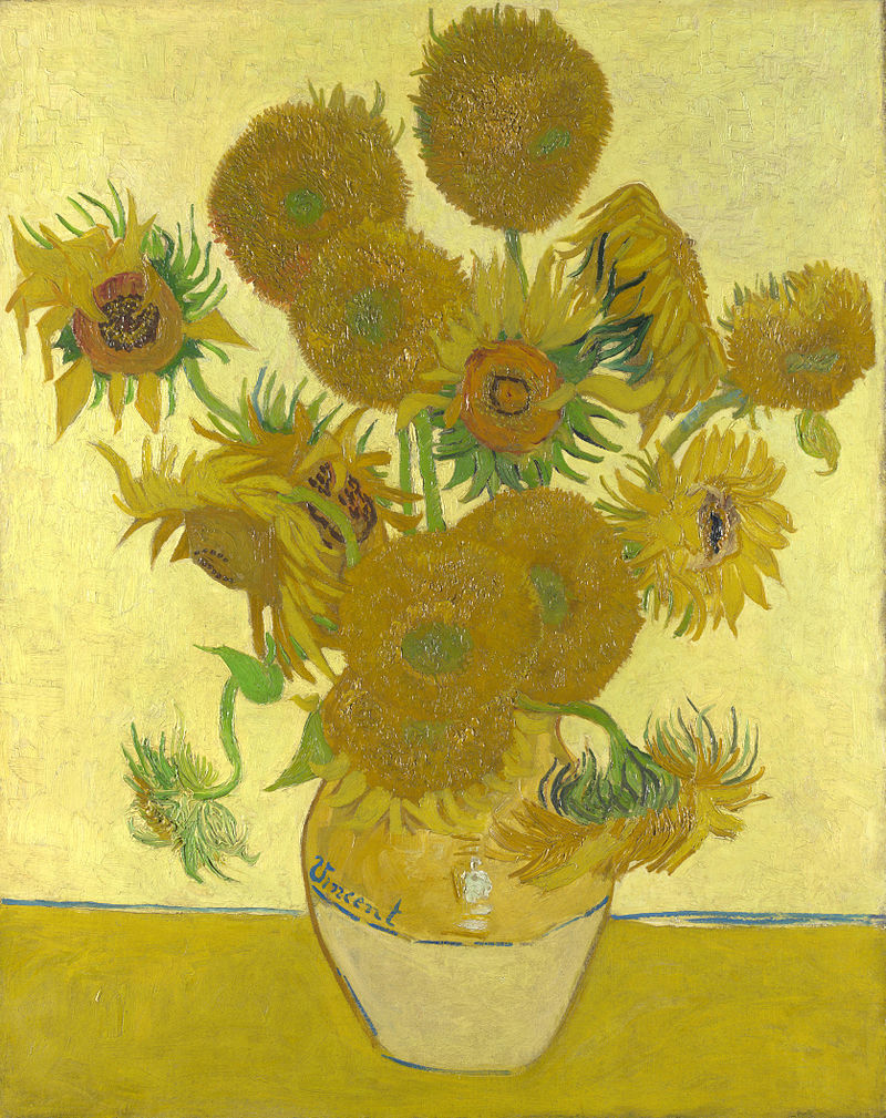 facts about Sunflowers by Vincent van Gogh