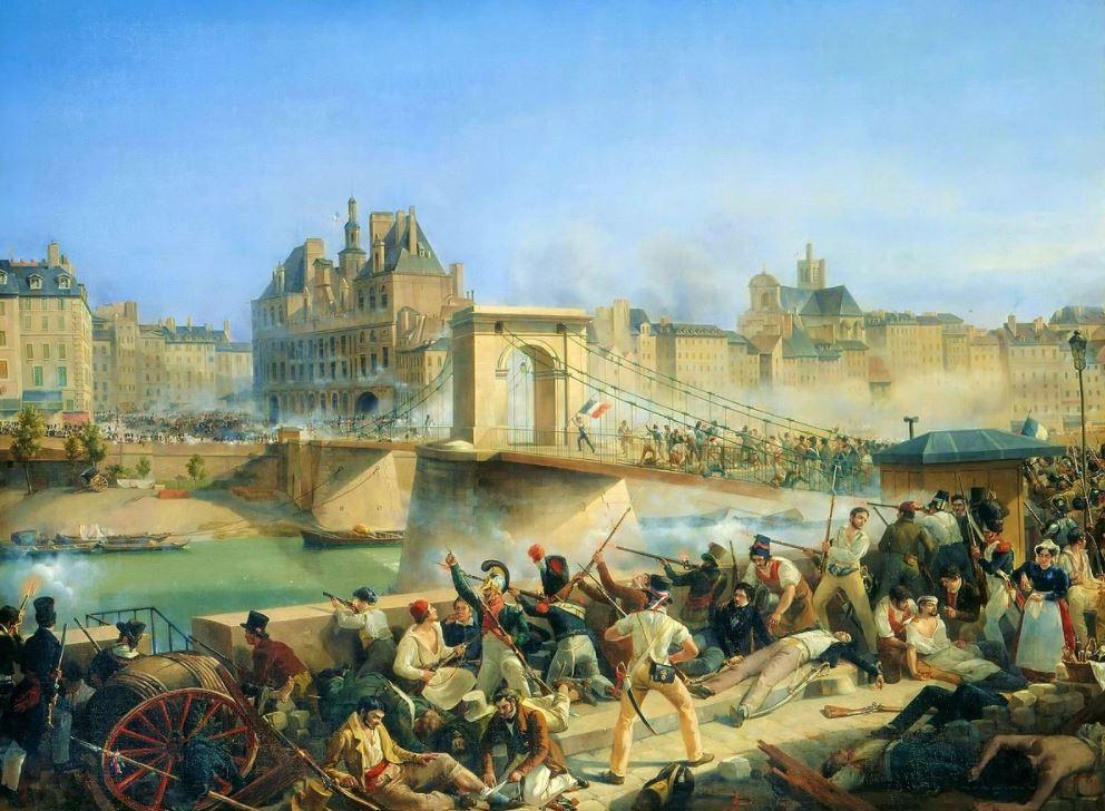 Taking of the hotel de ville July Refvolution of 1830