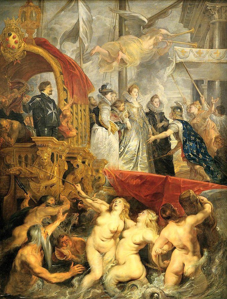 The Arrival of Marie de Medici at Marseille Rubens