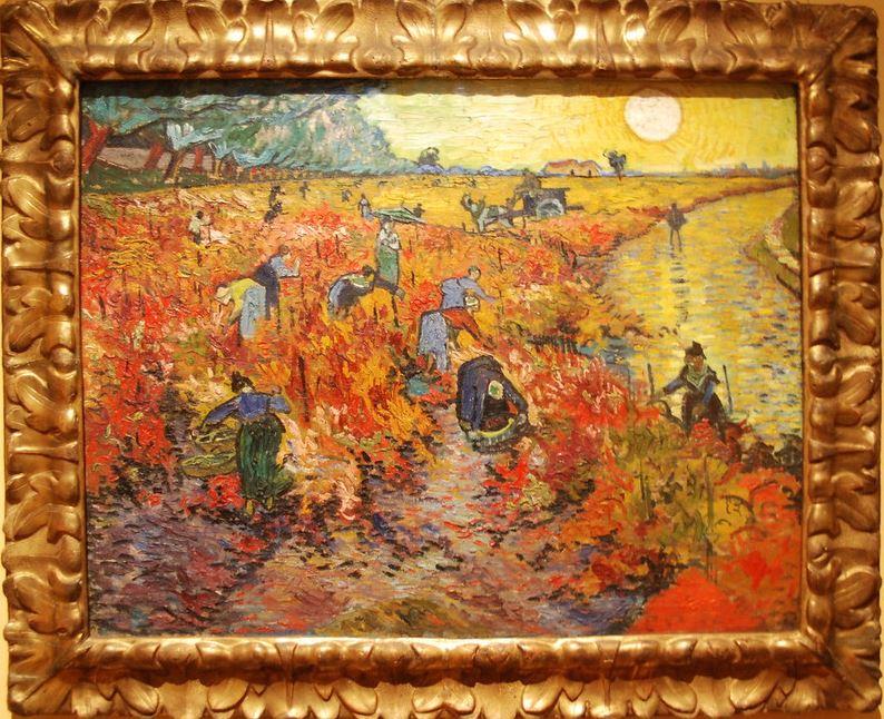 The Red Vineyard pushkin Museum
