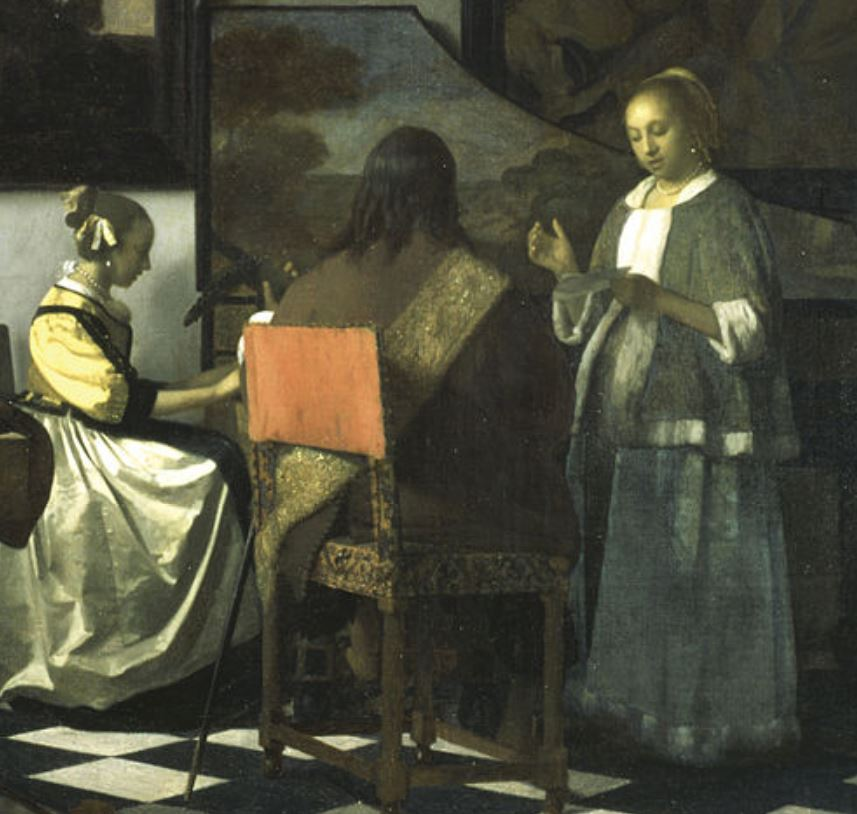 The concert by vermeer detail of main figures