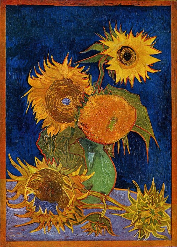 The destroyed sunflowers painting