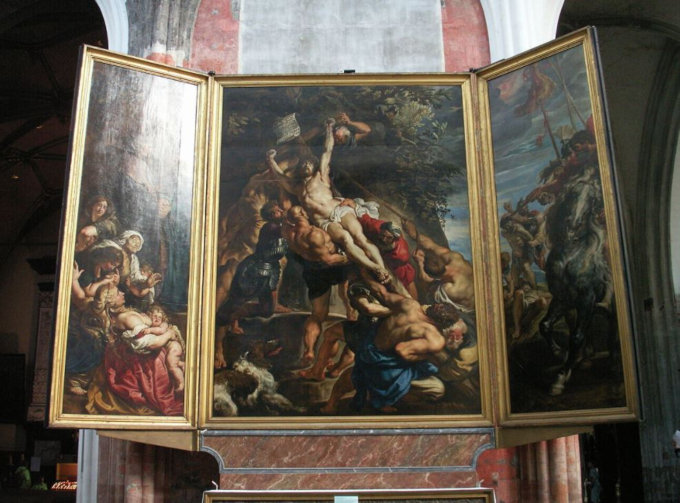 The elevation of the cross rubens Cathedral of our lady antwerp