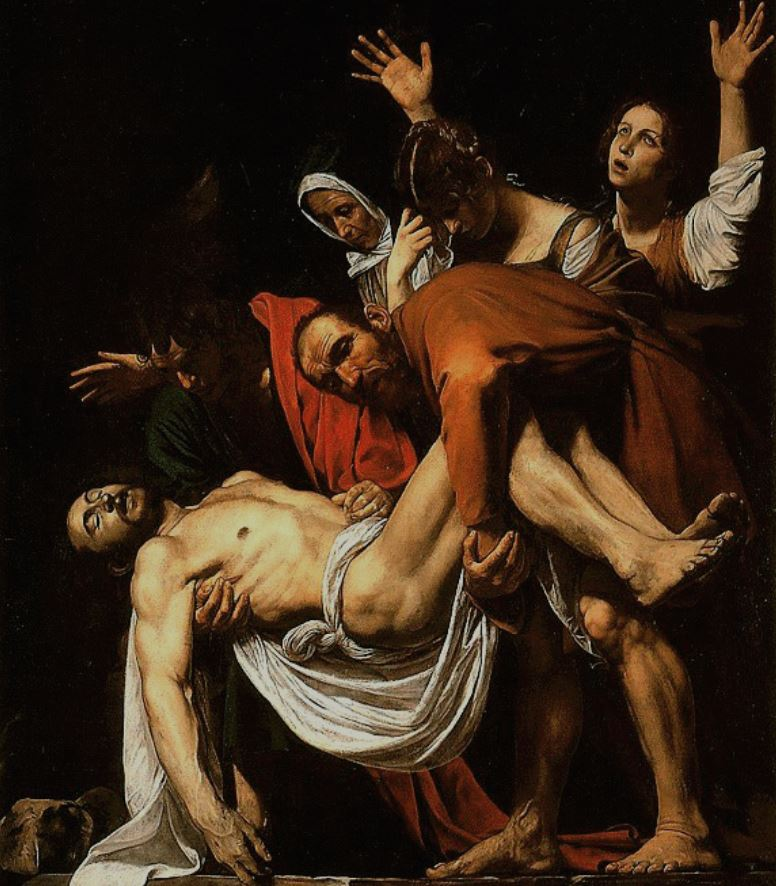 The entombment by caravaggio
