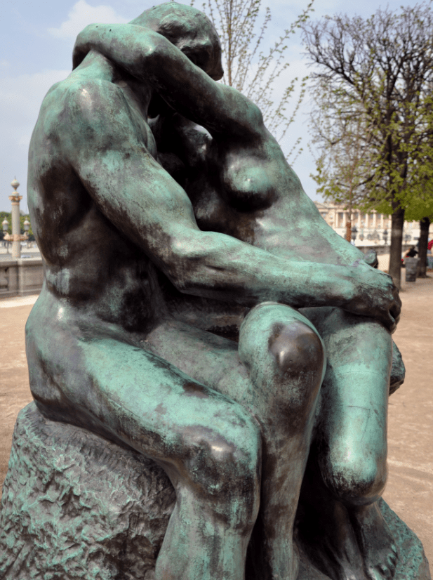 The Kiss by Auguste Rodin in Paris