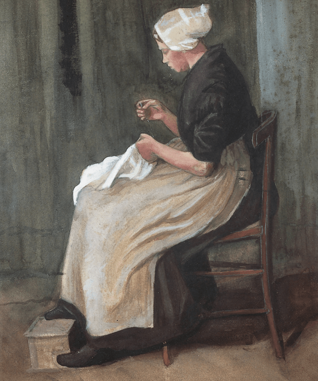 Young peasant sitter van Gogh