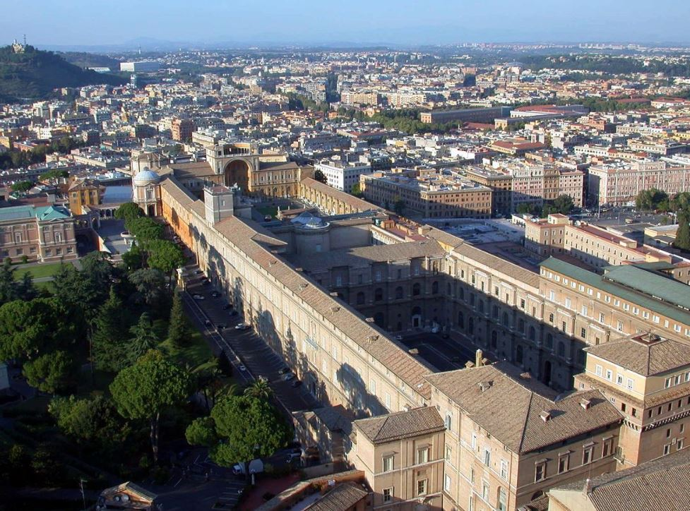 Vatican Museums aerial view