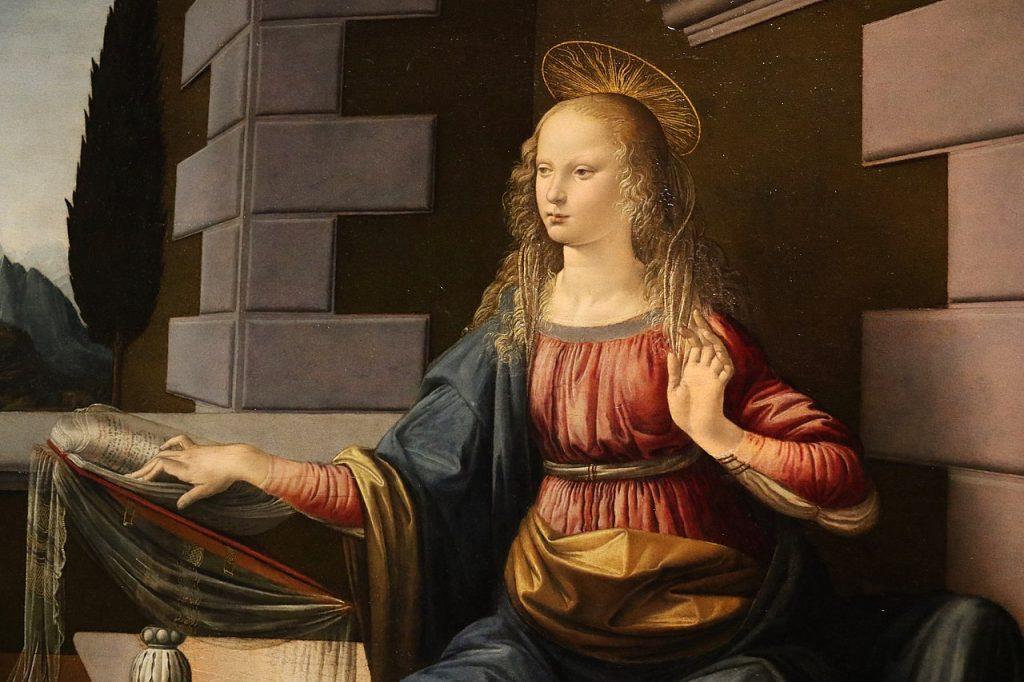 Annunciation Da Vinci virgin mary