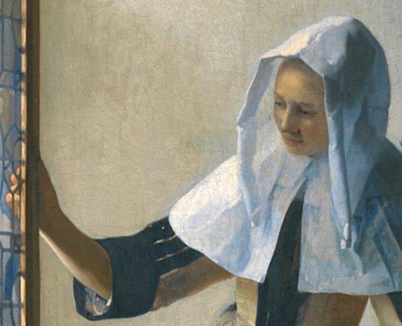 Woman with a water jug detail