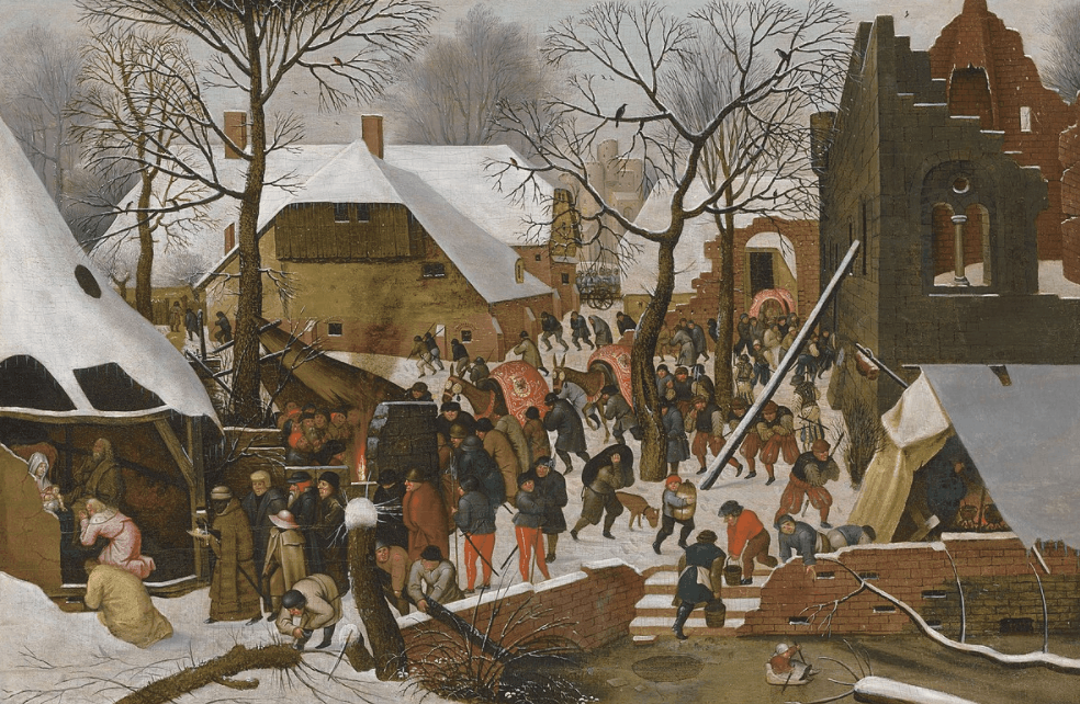 Adoration of the Magi in the Snow by Pieter Brueghel, the Younger