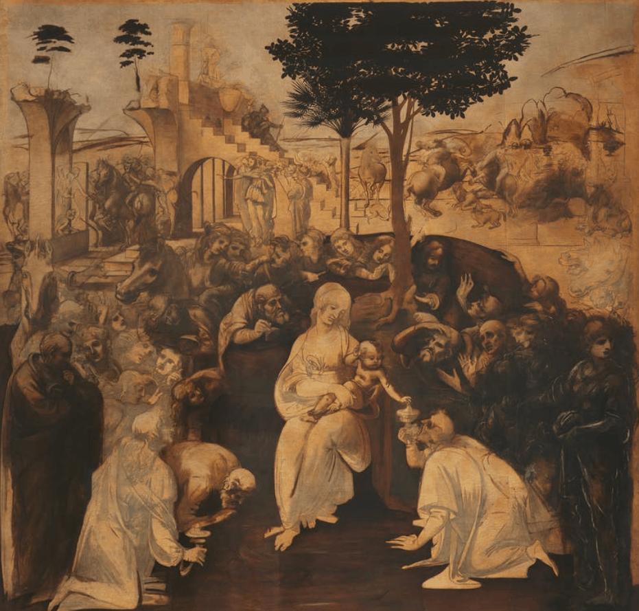 Adoration of the magi ufizi