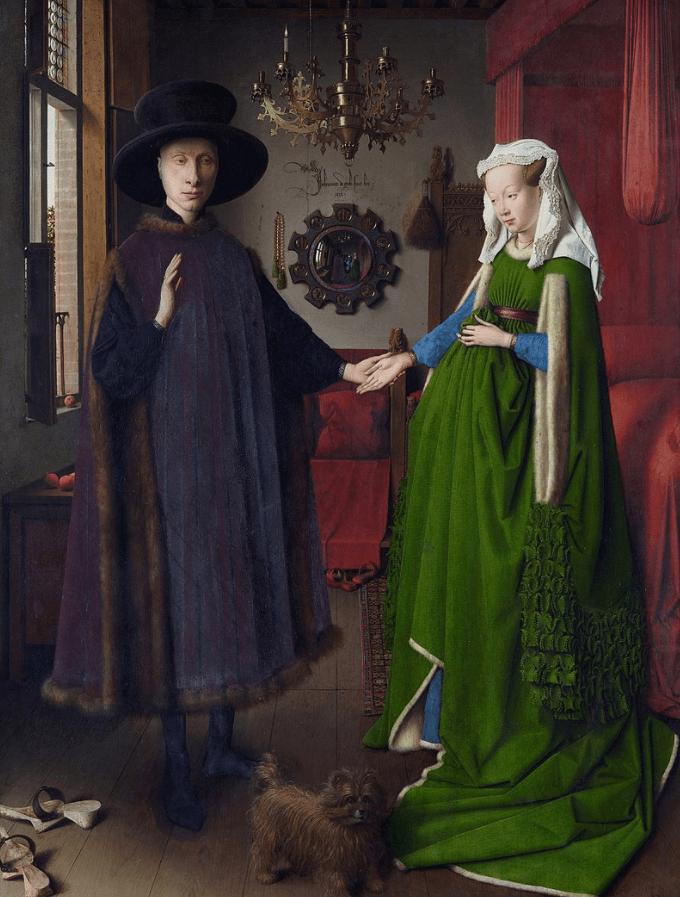 The Arnolfini Portrait (1434) by Jan van Eyck